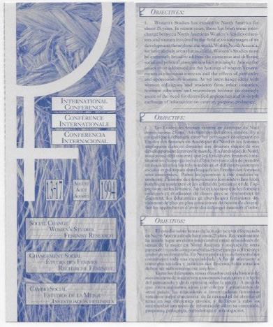 International Women's Conference Brochure